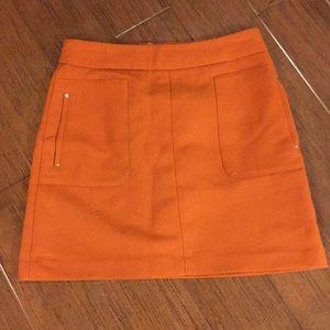 H&M Burnt Orange Mini skirt